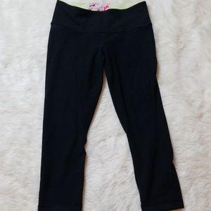 Black lululemon capris.  Size 4 reversable